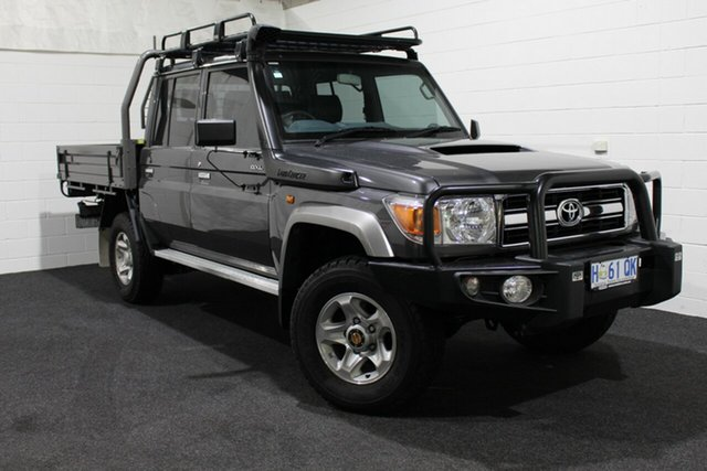 Used Toyota Landcruiser VDJ79R GXL Double Cab, 2016 Toyota Landcruiser VDJ79R GXL Double Cab Grey 5 Speed Manual Cab Chassis