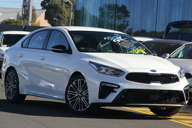New Kia Cerato BD MY21 GT DCT St Marys, 2020 Kia Cerato BD MY21 GT DCT Snow White Pearl 7 Speed Sports Automatic Dual Clutch Sedan