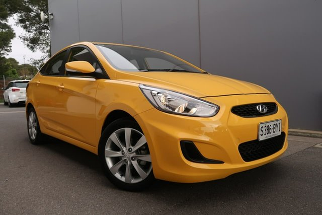 Used Hyundai Accent RB6 MY18 Sport, 2018 Hyundai Accent RB6 MY18 Sport Yellow 6 Speed Sports Automatic Sedan