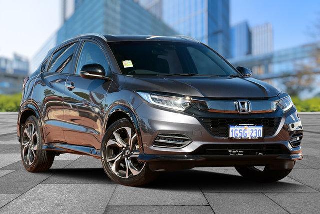Demo Honda HR-V MY19 RS, 2019 Honda HR-V MY19 RS Modern Steel 1 Speed Constant Variable Hatchback