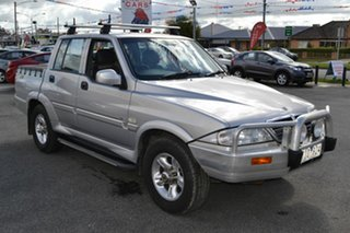 2004 Ssangyong Musso Sports (4x4) Silver 4 Speed Automatic Dual Cab Pick-up.