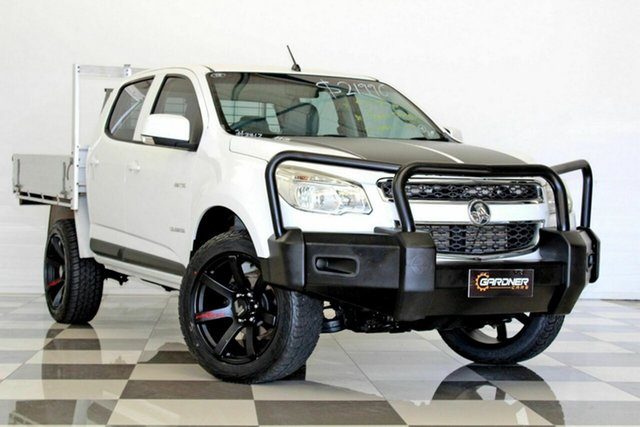 Used Holden Colorado RG LX (4x2), 2013 Holden Colorado RG LX (4x2) White 5 Speed Manual Crew Cab Chassis