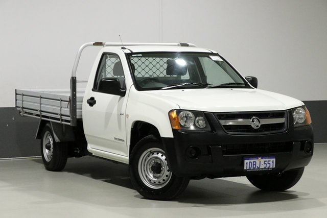 Used Holden Colorado RC MY09 DX (4x2), 2009 Holden Colorado RC MY09 DX (4x2) White 5 Speed Manual Cab Chassis