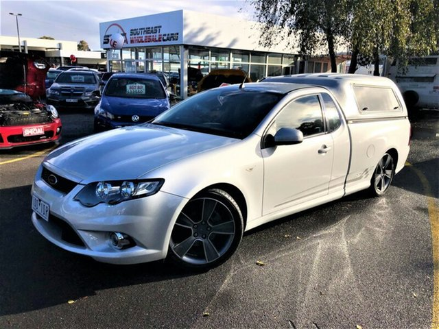 Used Ford Falcon FG XR6 Turbo Ute Super Cab 50th Anniversary, 2010 Ford Falcon FG XR6 Turbo Ute Super Cab 50th Anniversary Silver 6 Speed Sports Automatic Utility