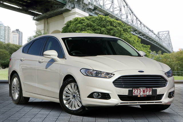 Used Ford Mondeo MD Ambiente SelectShift, 2016 Ford Mondeo MD Ambiente SelectShift Metallic White 6 Speed Sports Automatic Hatchback