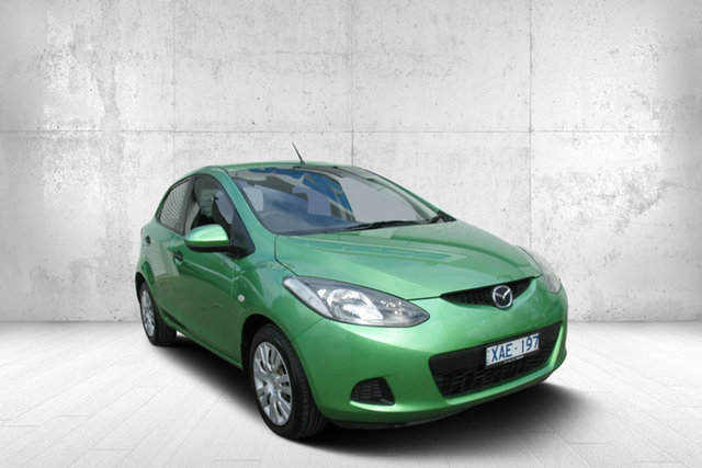 Used Mazda 2 DE10Y1 Neo, 2009 Mazda 2 DE10Y1 Neo Spirited Green 5 Speed Manual Hatchback