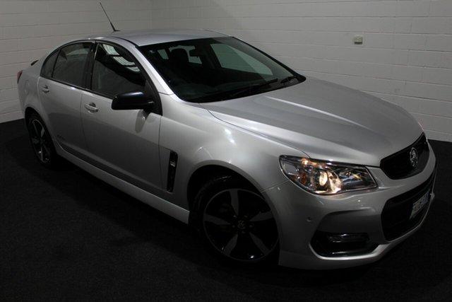 Used Holden Commodore VF II MY16 SV6 Black, 2016 Holden Commodore VF II MY16 SV6 Black Nitrate 6 Speed Sports Automatic Sedan