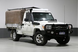 2012 Toyota Landcruiser VDJ79R MY12 Update GXL (4x4) White 5 Speed Manual Cab Chassis.
