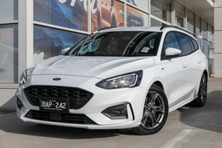 2019 Ford Focus SA 2019.25MY ST-Line White 8 Speed Automatic Wagon.