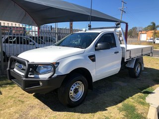 2015 Ford Ranger PX XL 2.2 (4x4) White 6 Speed Manual Cab Chassis.