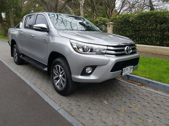 Used Toyota Hilux GUN126R SR5 Double Cab, 2017 Toyota Hilux GUN126R SR5 Double Cab Silver 6 Speed Sports Automatic Utility