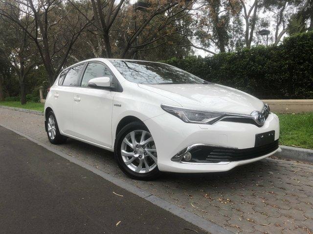 Used Toyota Corolla ZWE186R Hybrid E-CVT, 2017 Toyota Corolla ZWE186R Hybrid E-CVT White Constant Variable Hatchback Hybrid