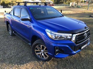 2018 Toyota Hilux GUN126R SR5 Double Cab Nebula Blue 6 Speed Sports Automatic Utility.