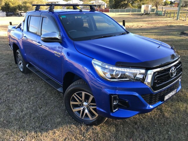 Used Toyota Hilux GUN126R SR5 Double Cab, 2018 Toyota Hilux GUN126R SR5 Double Cab Nebula Blue 6 Speed Sports Automatic Utility