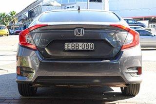 2018 Honda Civic 10th Gen MY18 VTi-LX Modern Steel 1 Speed Constant Variable Sedan