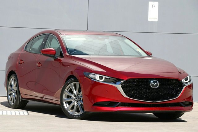 New Mazda 3 BP2SLA G25 SKYACTIV-Drive Astina Wollongong, 2021 Mazda 3 BP2SLA G25 SKYACTIV-Drive Astina Soul Red Crystal 6 Speed Sports Automatic Sedan