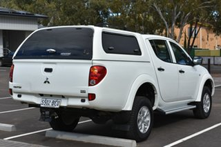 2014 Mitsubishi Triton MN MY15 GLX Double Cab White 5 Speed Manual Utility.