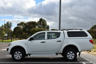 2014 Mitsubishi Triton MN MY15 GLX Double Cab White 5 Speed Manual Utility