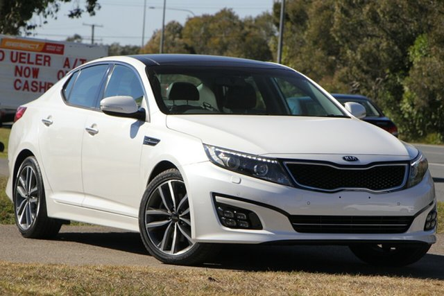 Used Kia Optima TF MY14 Platinum, 2014 Kia Optima TF MY14 Platinum White 6 Speed Sports Automatic Sedan
