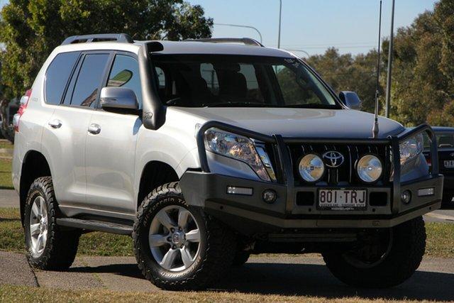 Used Toyota Landcruiser Prado KDJ150R GXL, 2013 Toyota Landcruiser Prado KDJ150R GXL Silver 5 Speed Sports Automatic Wagon