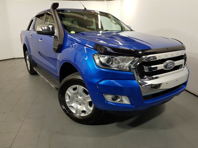 Used Ford Ranger PX MkII XLT Double Cab, 2017 Ford Ranger PX MkII XLT Double Cab Winning Blue 6 Speed Manual Utility