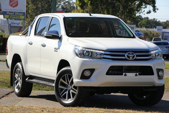 Used Toyota Hilux GUN126R SR5 Double Cab, 2015 Toyota Hilux GUN126R SR5 Double Cab White 6 Speed Manual Utility