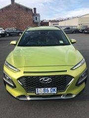 2019 Hyundai Kona OS.2 MY19 Elite 2WD Acid Yellow 6 Speed Sports Automatic Wagon.