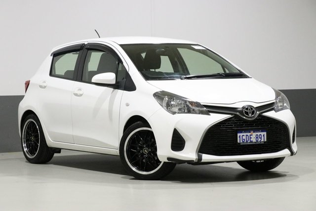 Used Toyota Yaris NCP130R MY15 Ascent, 2015 Toyota Yaris NCP130R MY15 Ascent White 5 Speed Manual Hatchback