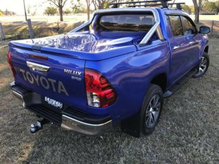 2018 Toyota Hilux GUN126R SR5 Double Cab Nebula Blue 6 Speed Sports Automatic Utility