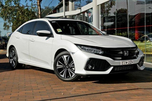 Demo Honda Civic 10th Gen MY18 VTi-LX, 2018 Honda Civic 10th Gen MY18 VTi-LX White Orchid 1 Speed Constant Variable Hatchback