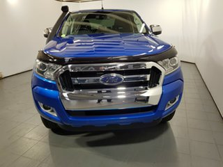 2017 Ford Ranger PX MkII XLT Double Cab Winning Blue 6 Speed Manual Utility.