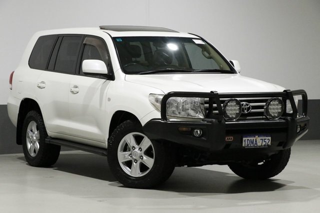 Used Toyota Landcruiser VDJ200R 09 Upgrade Sahara (4x4), 2010 Toyota Landcruiser VDJ200R 09 Upgrade Sahara (4x4) Pearl White 6 Speed Automatic Wagon