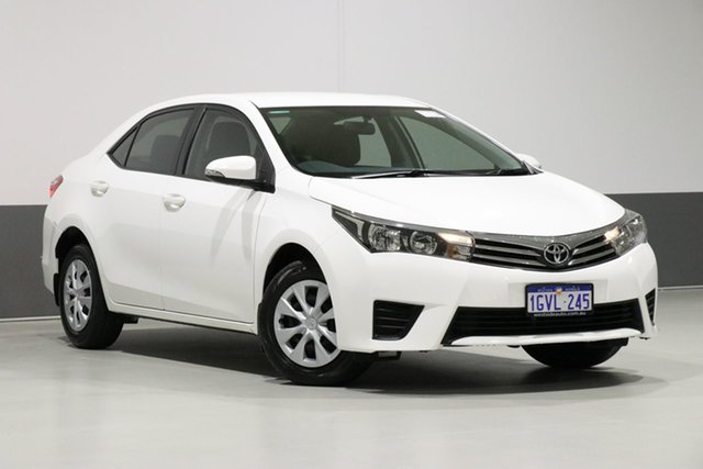 Used Toyota Corolla ZRE172R Ascent, 2014 Toyota Corolla ZRE172R Ascent White 7 Speed CVT Auto Sequential Sedan