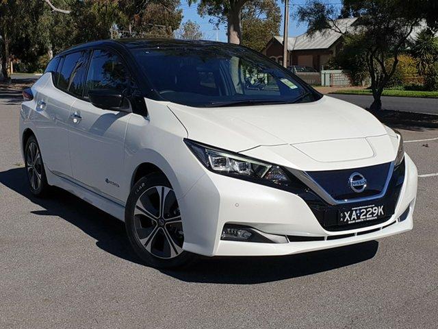 Demo Nissan Leaf ZE1 , 2019 Nissan Leaf ZE1 Ivory Pearl & Black Roof 1 Speed Reduction Gear Hatchback