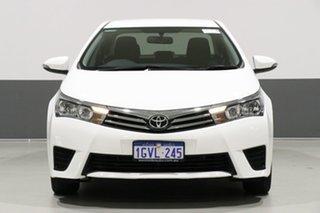 2014 Toyota Corolla ZRE172R Ascent White 7 Speed CVT Auto Sequential Sedan.