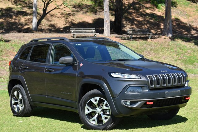 Used Jeep Cherokee KL MY15 Trailhawk, 2015 Jeep Cherokee KL MY15 Trailhawk Grey 9 Speed Sports Automatic Wagon