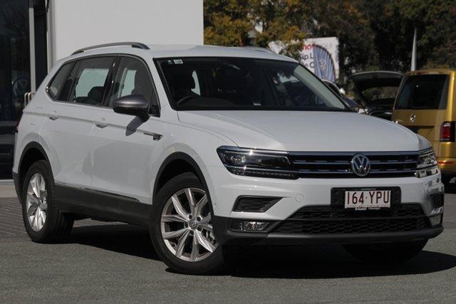 Demo Volkswagen Tiguan 5N MY19 132TSI Comfortline DSG 4MOTION Allspace, 2018 Volkswagen Tiguan 5N MY19 132TSI Comfortline DSG 4MOTION Allspace White Silver 7 Speed