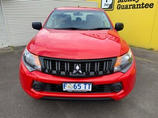 2017 Mitsubishi Triton MQ MY17 GLX Double Cab Red 6 Speed Manual Utility.