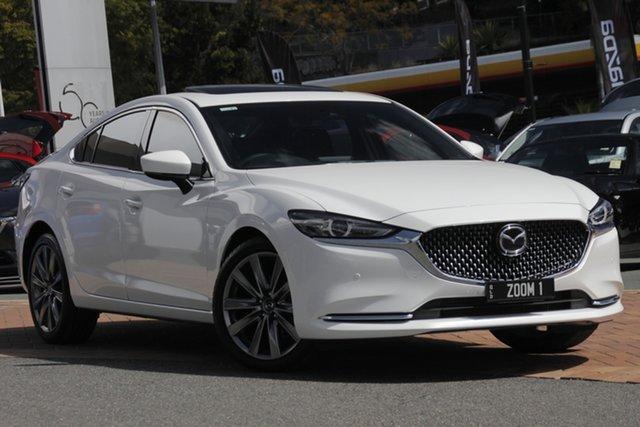 Demo Mazda 6 GL1032 Atenza SKYACTIV-Drive, 2019 Mazda 6 GL1032 Atenza SKYACTIV-Drive Snowflake White 6 Speed Sports Automatic Sedan