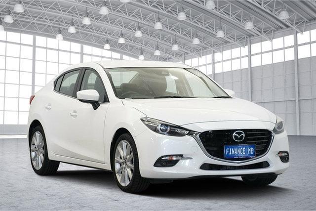 Used Mazda 3 BN5236 SP25 SKYACTIV-MT GT, 2018 Mazda 3 BN5236 SP25 SKYACTIV-MT GT White 6 Speed Manual Sedan