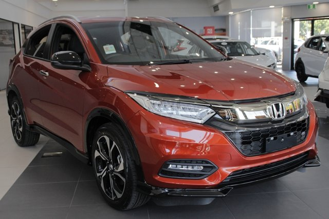 Demo Honda HR-V MY19 RS, 2019 Honda HR-V MY19 RS Phoenix Orange 1 Speed Constant Variable Hatchback