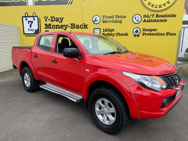 Used Mitsubishi Triton MQ MY16 GLX Double Cab, 2016 Mitsubishi Triton MQ MY16 GLX Double Cab Red 6 Speed Manual Utility