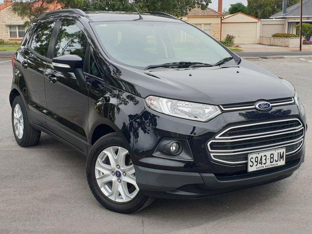 Used Ford Ecosport BK Trend PwrShift, 2015 Ford Ecosport BK Trend PwrShift Black 6 Speed Sports Automatic Dual Clutch Wagon