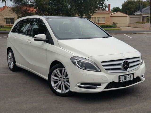 Used Mercedes-Benz B-Class W246 B180 DCT, 2014 Mercedes-Benz B-Class W246 B180 DCT White 7 Speed Sports Automatic Dual Clutch Hatchback