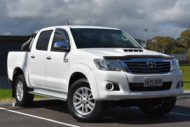 Used Toyota Hilux KUN26R MY14 SR5 Double Cab, 2015 Toyota Hilux KUN26R MY14 SR5 Double Cab White 5 Speed Automatic Utility