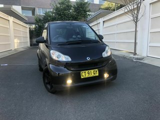 2010 Smart ForTwo 451 MY09 pulse Softip mhd Black 5 Speed Seq Manual Auto-Clutch Coupe.