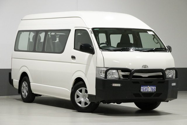 Used Toyota HiAce KDH223R MY11 Upgrade Commuter, 2011 Toyota HiAce KDH223R MY11 Upgrade Commuter White 5 Speed Manual Bus