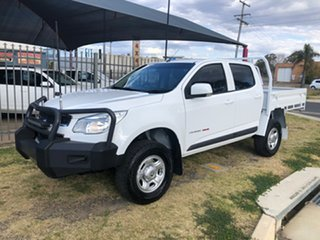 2015 Holden Colorado RG MY15 LS (4x4) White 6 Speed Automatic Crew Cab Chassis.
