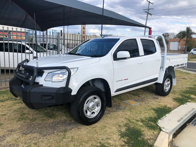 Used Holden Colorado RG MY15 LS (4x4), 2015 Holden Colorado RG MY15 LS (4x4) White 6 Speed Automatic Crew Cab Chassis