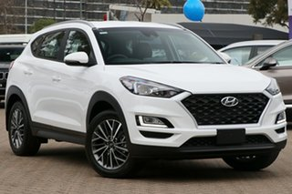 2020 Hyundai Tucson TL4 MY21 Active X AWD Pure White 8 Speed Sports Automatic Wagon.